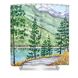 Montana - Lake Como Series Shower Curtain