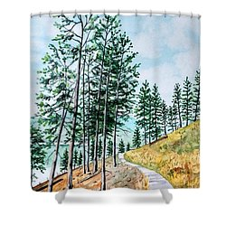 Montana Lake Como Trail Shower Curtain