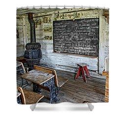 Montana School Lesson August 29 1864 Shower Curtain by Daniel Hagerman