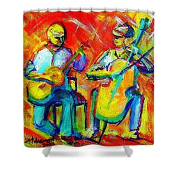 Montana Skies Performance Shower Curtain by Jeanette Jarmon