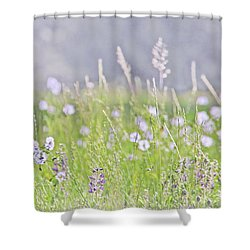 Shower Curtain featuring the photograph Montana Wildflowers Lavender by Jennie Marie Schell