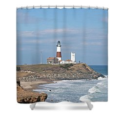 Montauk Lighthouse View From Camp Hero Shower Curtain