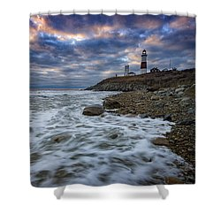 Montauk Morning Shower Curtain by Rick Berk