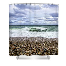 Montauk Shore Break Shower Curtain