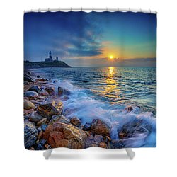 Montauk Sunrise Shower Curtain by Rick Berk