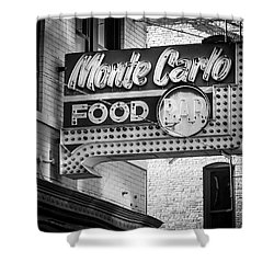 Monte Carlo Food Shower Curtain by Perry Webster