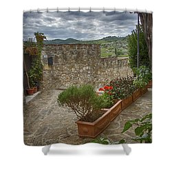 Montefioralle Tuscany 4 Shower Curtain