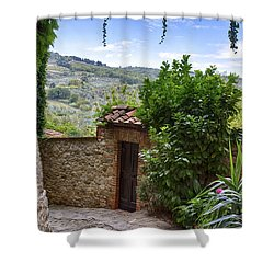 Montefioralle, Tuscany Shower Curtain