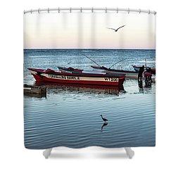 Montego Bay Fishing Scene Shower Curtain