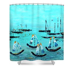 Monterey Boats Shower Curtain