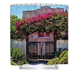 Monterey Charm Shower Curtain by Gina Savage