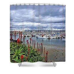 Monterey Marina Shower Curtain by Gina Savage