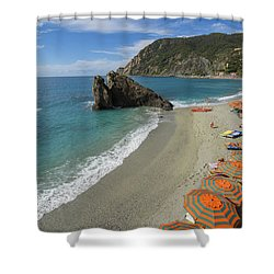 Monterosso Beach Day Shower Curtain