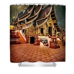 Monthian Temple Chiang Mai  Shower Curtain