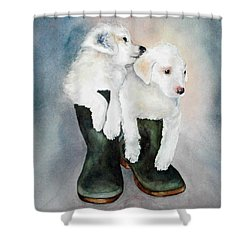 Monti And Gemma Shower Curtain