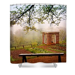 Monticello Garden Pavilion Shower Curtain