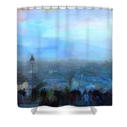 Shower Curtain featuring the painting Montmartre From The Butte by Chris Armytage