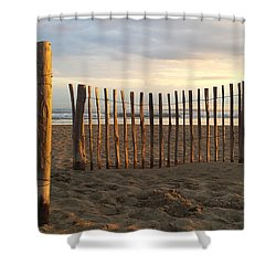Montpellier France Beach  Shower Curtain by Beryllium Photography