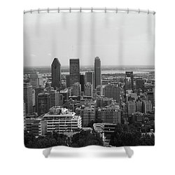 Montreal Cityscape Bw Shower Curtain