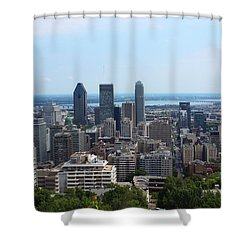 Montreal Cityscape Shower Curtain