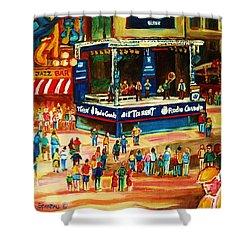 Montreal Jazz Festival Shower Curtain by Carole Spandau