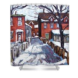 Montreal Scene 02 By Prankearts Shower Curtain by Richard T Pranke