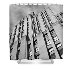 Shower Curtain featuring the photograph Montreal Skyscraper by Valentino Visentini