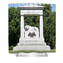Monument At Higginsville   Missouri Shower Curtain