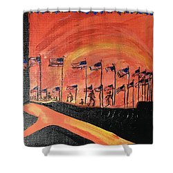 Monument II Shower Curtain