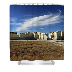 Monument Rock Afternoon  Shower Curtain