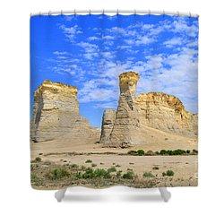 Monument Rocks In Kansas 2 Shower Curtain