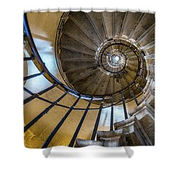 Monument Stairs Shower Curtain by Jae Mishra