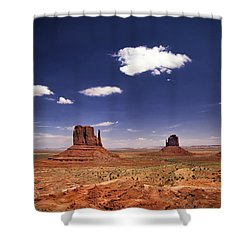 Shower Curtain featuring the photograph Monument Valley by James Bethanis