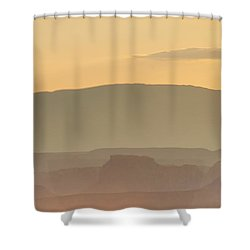 Monument Valley Layers Shower Curtain by Az Jackson