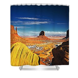 Monument Valley Mittens Utah Usa Shower Curtain by Sam Antonio
