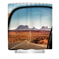 Monument Valley Rearview Mirror Shower Curtain