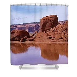 Monument Valley Reflection Shower Curtain