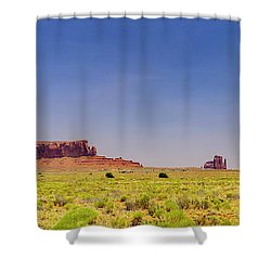 Monument Valley South View Shower Curtain