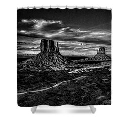 Monument Valley Views Bw Shower Curtain