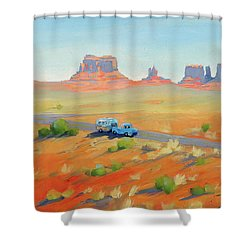 Monument Valley Vintage Shower Curtain