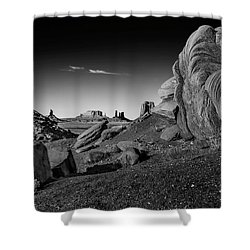 Monument Valley Rock Formations Shower Curtain