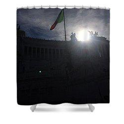 Monumento Nazionale A Vittorio Emanuele II Shower Curtain