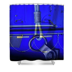 Shower Curtain featuring the photograph Mood Blue by Wayne Sherriff