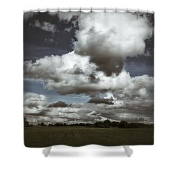 Moodiness In The Clouds Shower Curtain by Karen Stahlros