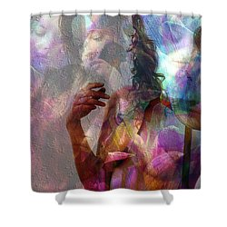 Moods In Abstract Pastel Shower Curtain