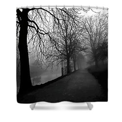 Moody And Misty Morning Shower Curtain by Inge Riis McDonald