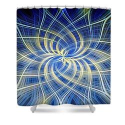 Shower Curtain featuring the digital art Moody Blue by Carolyn Marshall