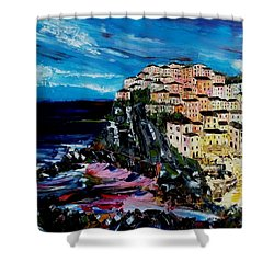 Moody Dusk In Italy Shower Curtain
