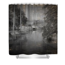 Shower Curtain featuring the photograph moody Line up by Leif Sohlman