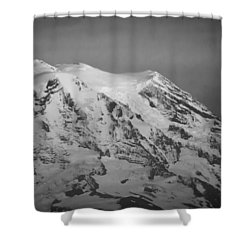 Shower Curtain featuring the photograph Moody Mt. Rainier by Erin Kohlenberg
